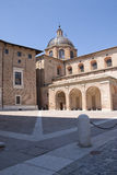 Urbino. A detail of the urbino's cathedral Royalty Free Stock Photography