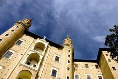 Urbino. The two towers symbol of Urbino Stock Photos