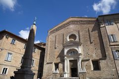 Urbino, art city of marche region, italy, europe. Church of St. Dominic, ancient Church, in urbino, marche region, in italy, europe Royalty Free Stock Images
