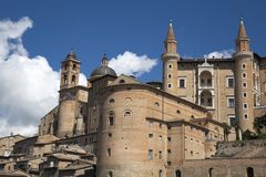 Urbino, art city of marche region, italy, europe. View of urbino, ancient walls and palaces , in urbino, marche region, in italy, europe Stock Photo