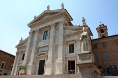Urbino cathedral Stock Images