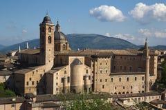 Urbino, città della regione della Marche, Italia, Europa di arte Fotografie Stock Libere da Diritti