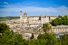 Urbino city view, Italy. A view of the town of Urbino Royalty Free Stock Photos