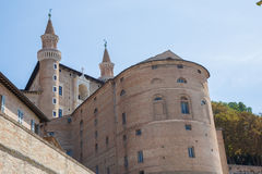 Urbino Ducal Palace. View of the Ducal Palace in Urbino, Italy Stock Photos