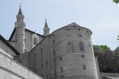 Urbino Ducal Palace. View of the Ducal Palace in Urbino, Italy Stock Photo