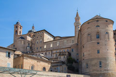 Urbino Ducal Palace. View of the Ducal Palace in Urbino, Italy Royalty Free Stock Photos