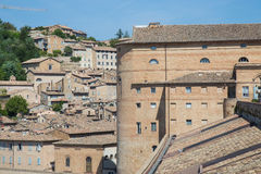 Urbino Ducal Palace. View of the Ducal Palace in Urbino, Italy Royalty Free Stock Photo