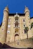 Urbino - Ducale slott Royaltyfri Foto