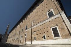 Urbino Italia, Palazzo Ducale Imágenes de archivo libres de regalías