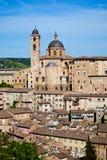 Urbino, Italy. City view on the sunset, Urbino, Italy Royalty Free Stock Photography