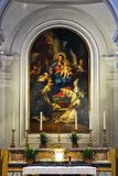 Urbino, Italy, Saint Domenico church detail, paint of the abside Royalty Free Stock Photo