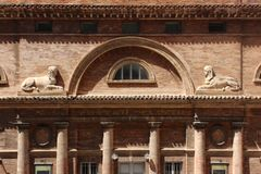 Urbino, Italy, Sanzio Theater detail, paint of the abside Stock Photos