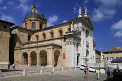 Urbino, Italy, September 2014. The city cathedral royalty free stock photography
