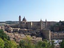 Urbino, Italy. View of the town of urbino italy Stock Photo