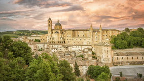 Urbino Marche Italy at evening time. An image of Urbino Marche Italy at evening time Stock Photo