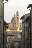 Urbino (Marsen, Italië) - Oude gebouwen royalty-vrije stock afbeeldingen