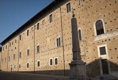 Urbino (marzo, l'Italia) - Palazzo Ducale Fotografie Stock Libere da Diritti