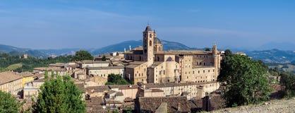 Urbino - Panoramic view. Palazzo Ducale in Urbino and surroundings, Marche, Italy Stock Photo