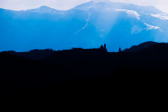Urbino Silhouette. With the Nerone Mount in background Royalty Free Stock Photos
