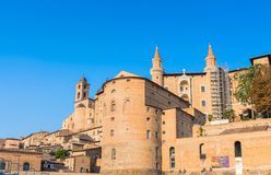 Urbino skyline with Ducal Palace, Italy Royalty Free Stock Photos