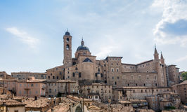 Urbino skyline with Ducal Palace, Italy Royalty Free Stock Photo