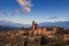 Urbino view at the sunset Royalty Free Stock Photo