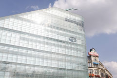 Urbis A  modern building in Manchester and Printwo Royalty Free Stock Photography