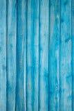 Urblekt blå plankavägg Fotografering för Bildbyråer