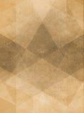 Urblekt illustration för tappningbruntbakgrund med i lager geometrisk design Fotografering för Bildbyråer