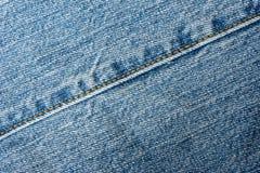 Urblekt jeanssömsdetalj Arkivbild