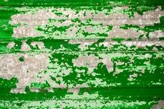 Urblekt ljust ljust - grön korrugerad metall Royaltyfri Fotografi