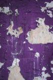 Urblekt purpurfärgad vägg Royaltyfri Fotografi