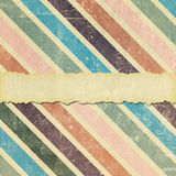 Urblekt, skadad och sönderriven diagonal bandbakgrund Arkivbild