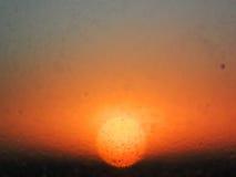 Urblekt sol Arkivfoton