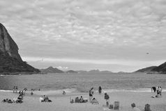 Urca strand, Rio de Janeiro, Brasil. Royaltyfri Fotografi