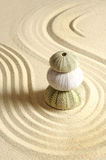Urchin in sand. With line Royalty Free Stock Images