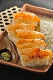 Urchin Shrimp sushi Stock Photography
