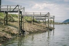 Urdaibai生物圈储备的老木船坞在巴斯克地区 图库摄影