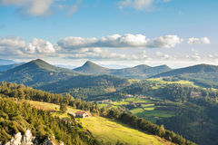 Urdaibai biosphere at biscay, spain. Landscape at biscay coutryside in basque country Stock Photos