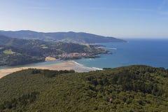 Urdaibai biosphere reserve. Urdaibai natural area in north coast of Basque country, Spain stock photography