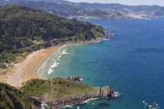 Urdaibai biosphere reserve. Urdaibai natural area in north coast of Basque country, Spain royalty free stock photography
