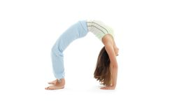 Urdhva dhanurasana upward bow pose Stock Images