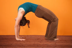 Urdhva Dhanurasana Yoga Pose Stock Photo