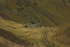 urdiceto谷方式的湖比利牛斯 库存照片