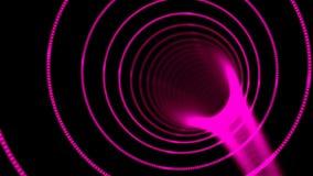 A urdidura abstrata do túnel da velocidade, movendo-se no espaço e no tempo, distorção do espaço, viajando no espaço, 3d rende ilustração stock