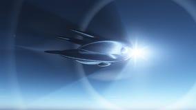 Urdidura do navio de espaço Foto de Stock