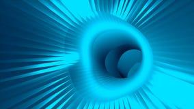 a urdidura do túnel da velocidade 3d, movendo-se no espaço e no tempo, distorção do espaço, viajando no espaço, 3d rende ilustração stock