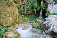 Urederra river, Navarre (Spain) Royalty Free Stock Photography