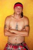 Ureinwohner-Mann Stockfoto