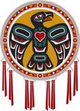 Ureinwohner-Trommel mit Adler lizenzfreie abbildung